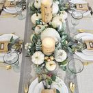 A Simple Beautiful Way to Decorate Your Dining Table for Fall — 2 Ladies & A Chair