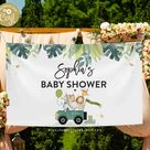 Editable Digital Download Safari Baby Shower Backdrop Safari Baby Shower Banner Safari Baby Shower Welcome Sign Instant Download AA