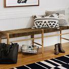 Thomas Woven Leather Bench