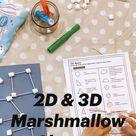2D & 3D Marshmallow Shapes