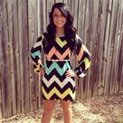 Mint Chevron Dresses