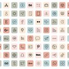iOS 14 App Icons / 90 Pastel Aesthetic icons iOS14 / Vintage iOS14 App Icons / iPhone Icon App Pack