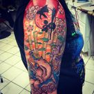 Decided to upload my first tattoo that I got around Oct. 10th. Amaterasu-Okami