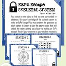 Skeletal System Escape Room- Science Escape Room