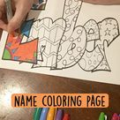 EMBER! Name coloring page