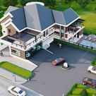 4 Bedroom House Plan digital File, Luxury Floor Plan, Architect DWG File, Modern Architectural Floor
