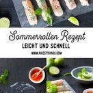 Sommerrollen Rezept / Summer Rolls mit Garnelen - Nicest Things