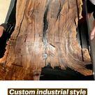 Custom industrial styleriverdining table