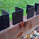 4 X Corner Timber Railway Sleeper Brackets Wooden Planter Raised Bed Edging for sale online   eBay