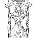 Hourglass small art print