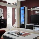 Santi 1 - black and white tv entertainment stand