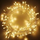 1000 led string fairy lights on clear cable with 8 light effects ideal for home christmas wedding party warm white