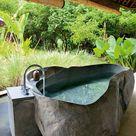 Bezaubernde Badewannen aus Naturstein - Outdoor Diy