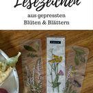DIY: Lesezeichen aus Blättern & Blüten basteln