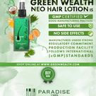 Original Green Wealth Neo Hair Lotion is Good Manufacturing Practices (GMP) Certified.