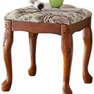 YADSHENG Vanity Stool Makeup Chair Vanity Bedroom Bench with Rubberwood Legs Vanity Benches Color, Size  38x38x43cm