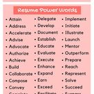 Resume Power Words for 2020 (Infographic)