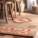 Handgefertigter Teppich Claghorn aus Wolle in Grau