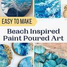40 Easy Beach Painting Ideas for DIY Home Décor Crafts