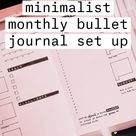 july minimalist monthly bullet journal set up