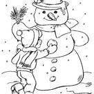 Coloriage enfant bonhomme neige coloriage