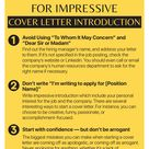 Top 3 tips for cover letter introduction