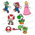 Super Mario LAYERED SVG  Luigi Mario Peach Toad Yoshi SVG  | Etsy