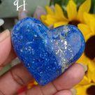 Deep Cobalt Blue Lapis Lazuli Hearts (Lot 1) - H (94g)