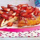 Käsekuchen ohne Boden mit Aprikosen - so geht's   LECKER