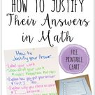 Teaching Students How to Justify Answers in Math   Teaching with Jennifer Findley