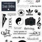 Black and white stickers vsco