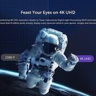 VAVA - 4K UHD Smart Ultra Short Throw Laser TV Home Theater Projector - Black