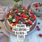 Vegane Mascarpone- Beeren- Torte