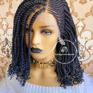 Kinky Curly Twist-Flora - (11-13)inches shoulder length / HD (13*6) Frontal Transparent/Invisible Swiss Lace