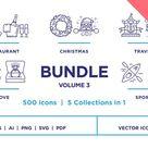 Line Icons – Bundle Vol 3 (50% off) by iStar Design Bureau on @creativemarket