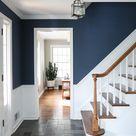 Painting my Entryway - Farrow & Ball Stiffkey Blue