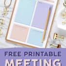 Free Stylish + Feminine Printable Meeting Agenda Template