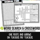 School Time Puzzles : Word Search & Crossword Puzzles