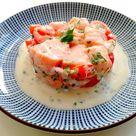 Tartare de saumon à la Tahitienne