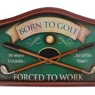 3D Born to Golf Sign