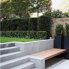 idée banc intégré à escalier terrasse. Espace rangement en-dessous si possib… - Outdoor Diy