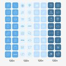 Ios14 app Icons Pastel blue, Aesthetic app Icons, home screen, widgets and wallpapers
