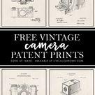 Camera Patent Art | Free Vintage Patent Prints