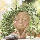 Female Head Face Planter Plant Pot Plants Planters Pots | Etsy