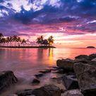 Beach Resort Sunset - High Definition Wallpaper