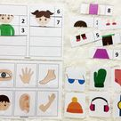 Body Parts Printable in Spanish, Toddler Busy Books Activity Pages, Learning Folder, Homeschool Materials, Learning Binder