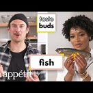 Keke Palmer & Brad Try 6 Types of Fish   Taste Buds   Bon Appétit