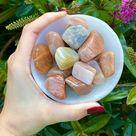 MoonStone   Moonstone tumbled Stone   Gemstone   Abundance Stone   Love Stone   Healing Stone