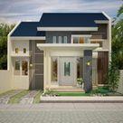 Denah Rumah Minimalis Type 72 Lebar 8 Meter   Jasa Desain Rumah