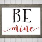 Be Mine Valentine SVG clipart cut file.  Rustic Valentines Day Sign art.  Be My Valentine SVG. Love clipart.  Instant Download svg & png.